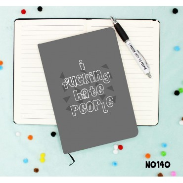 Fucking Hate People Notebook