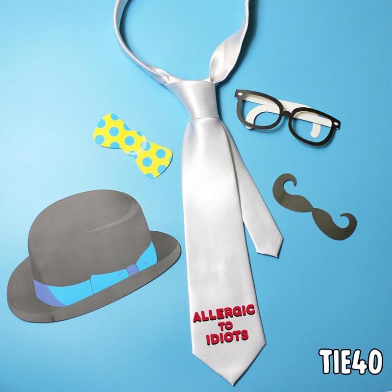 Allergic Idiots Tie