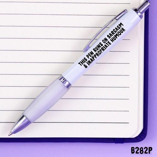 Runs Sarcasm Pen