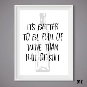 Full of Wine Print