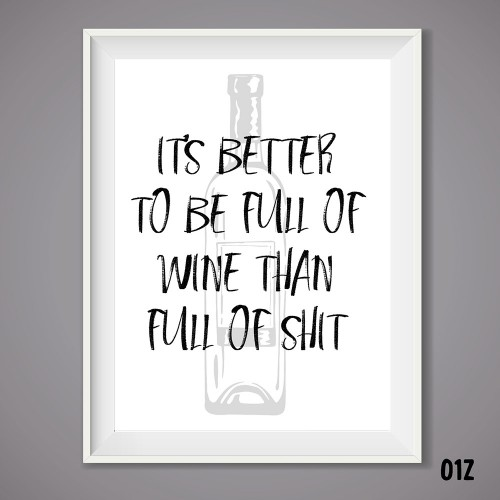 Full of Wine Print