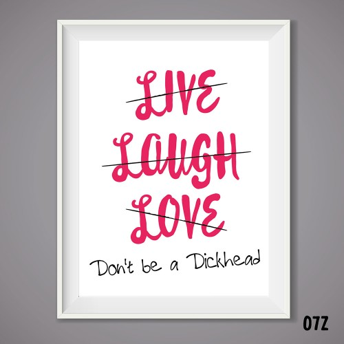 Live, Laugh, Love Print