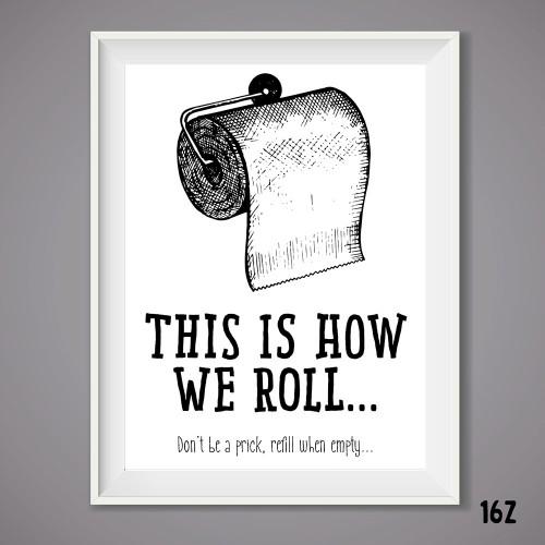 How We Roll Print