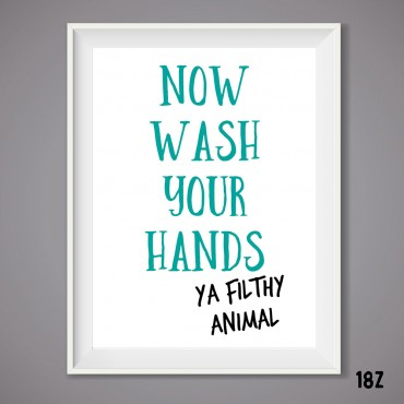 Wash you Hands Print