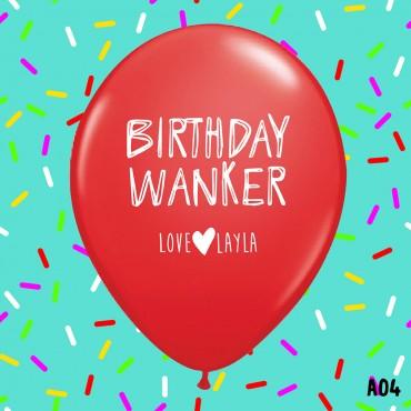 Birthday Wanker - RED