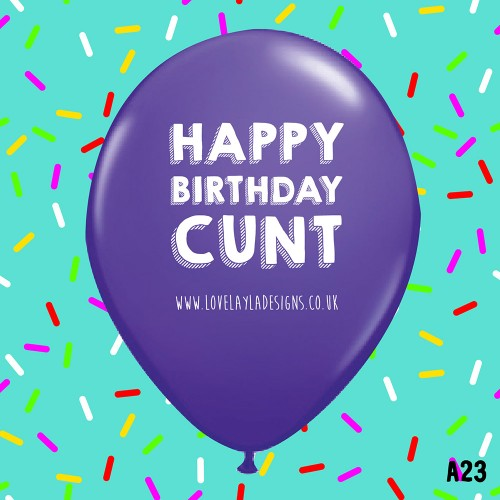 Birthday Cunt Balloon