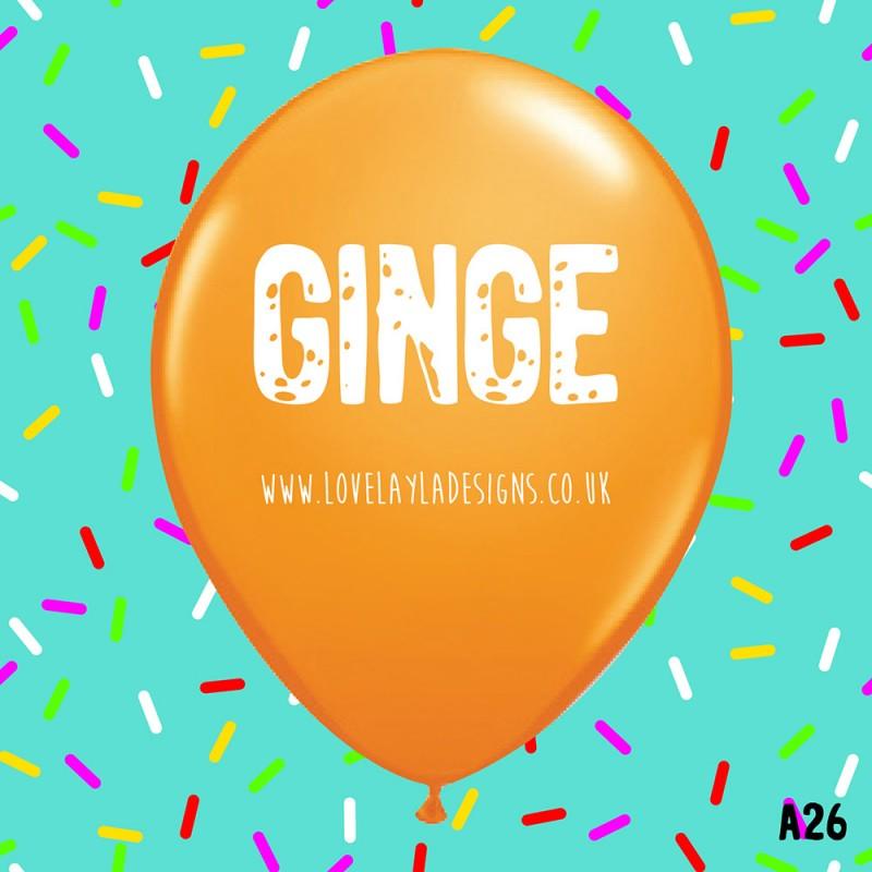 Ginge Balloons