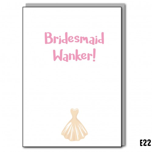 Bridesmaid Wanker