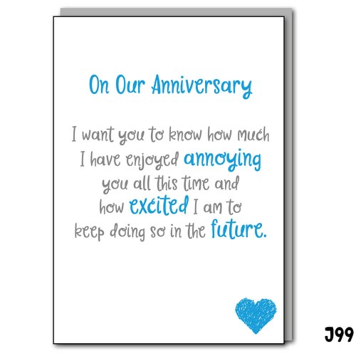 Annoying Anniversary Blue