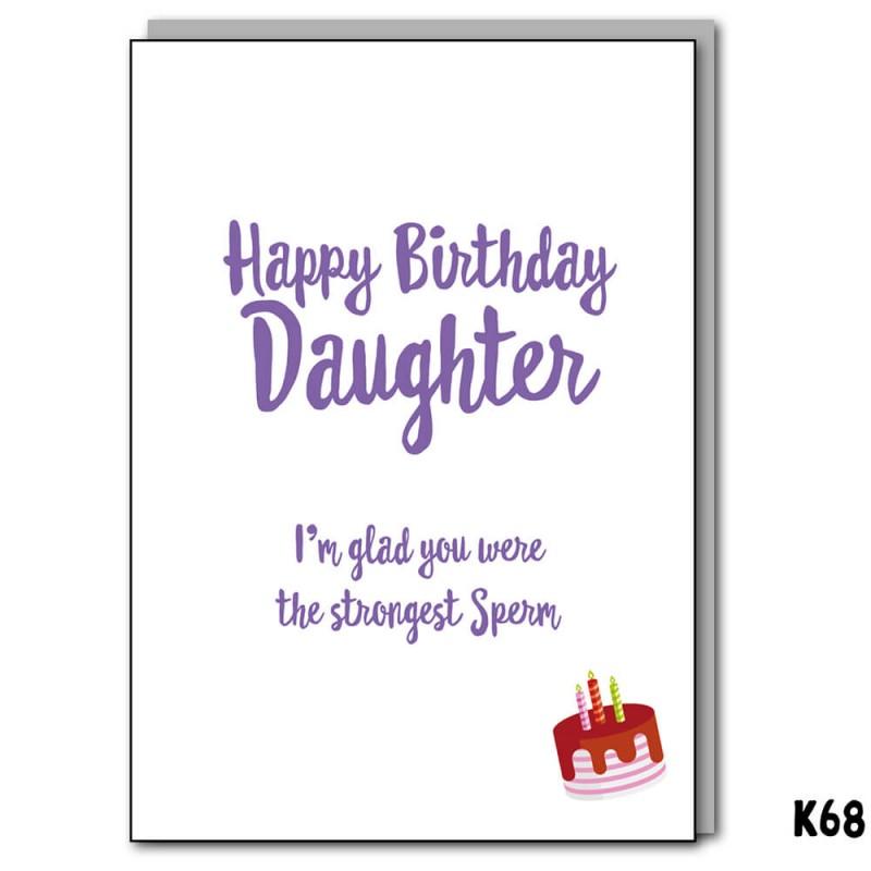 Strongest Sperm Daughter e-Card