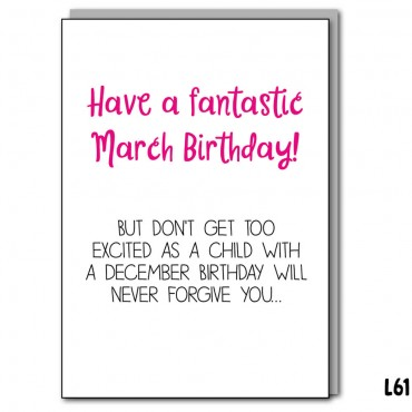 Excited March Birthday