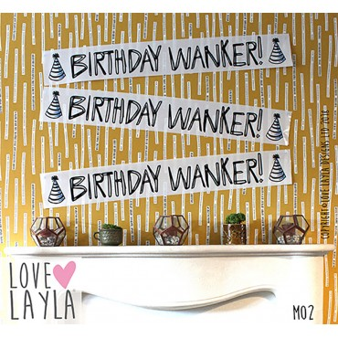 Birthday Wanker Banner