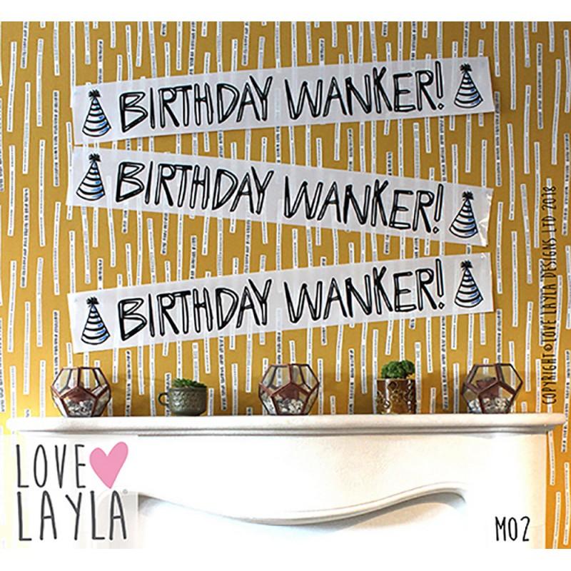 Birthday Wanker Banner