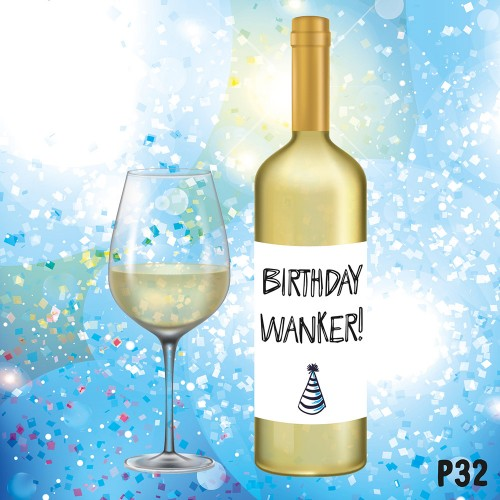 Birthday Wanker Label