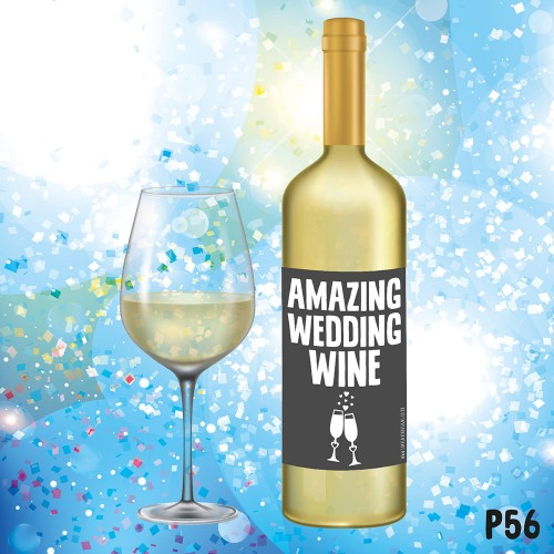 Amazing Wedding Wine Label