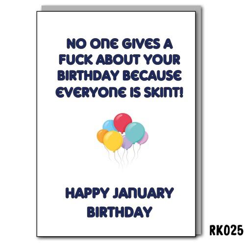 Jan Skint Birthday