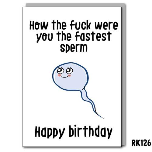 The fastest sperm