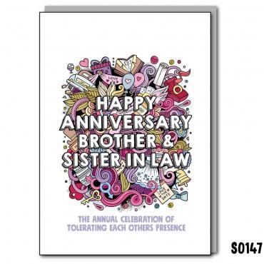 Anniversary Bro & SIL