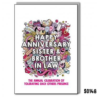 Anniversary Sis & BIL