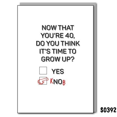 40 Grow Up