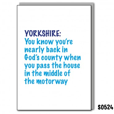 You Know When Yorkshire