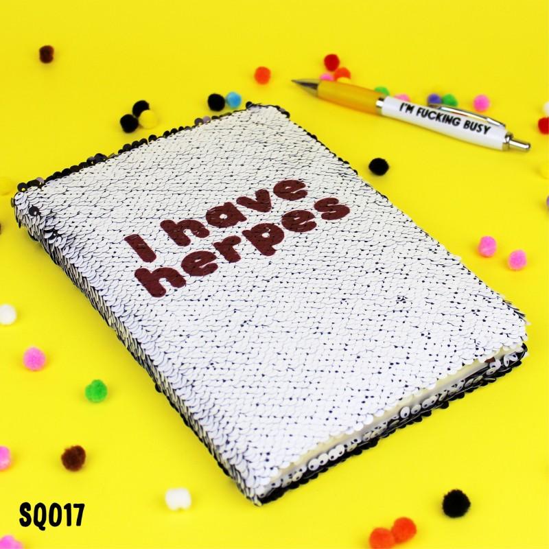 Herpes Sequin Notebook