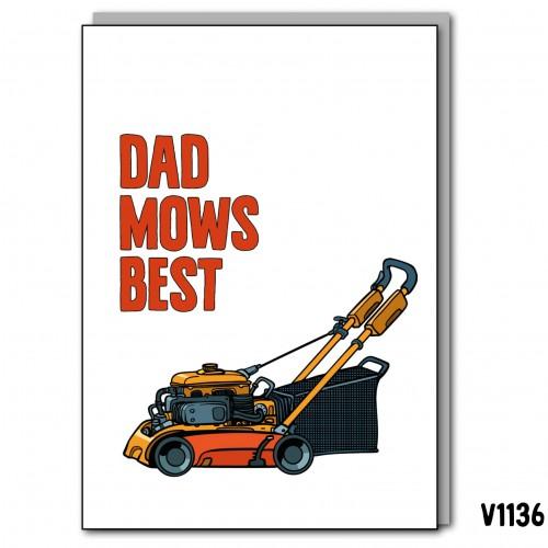 Dad Mows