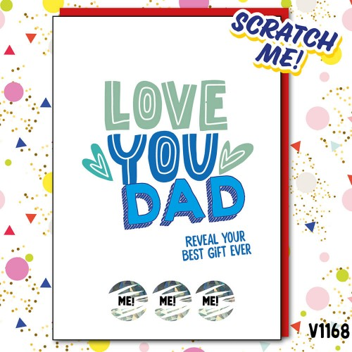 Love Dad Scratch Card