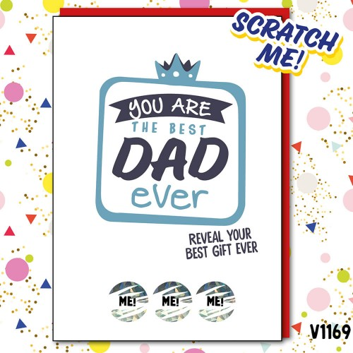 Best Dad Ever Scratch Card