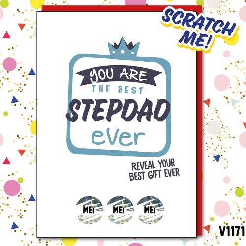 Best StepDad Ever Scratch Card