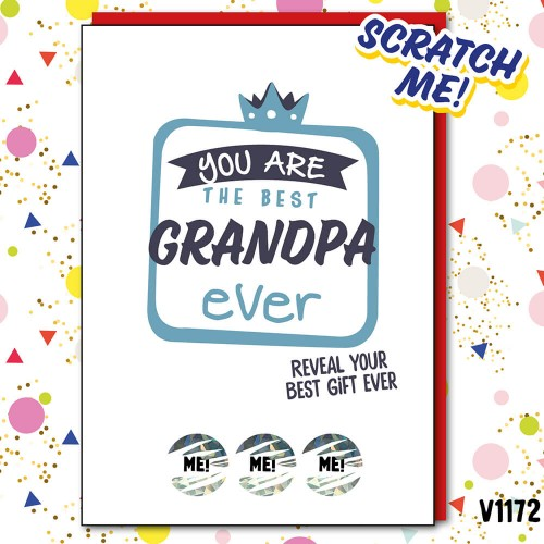 Best Grandpa Ever Scratch Card