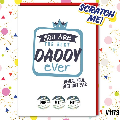 Best Daddy Ever Scratch Card