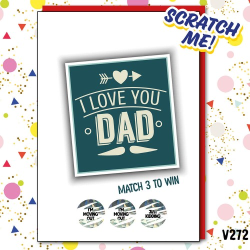 Dad Move Out Scratch Card