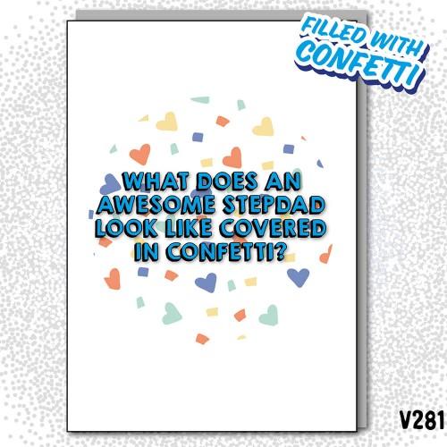 Awesome StepDad Confetti