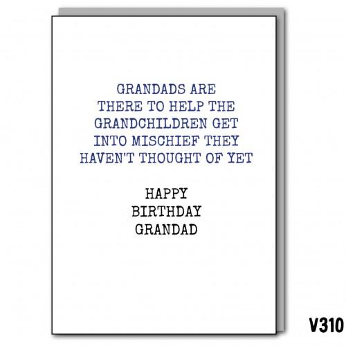 Grandad Mischief Birthday