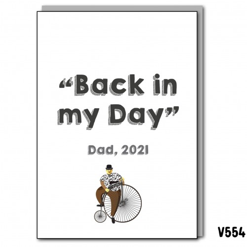 Back in My Day Dad 2021