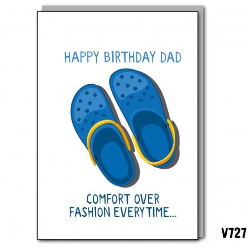 Blue Crocs Birthday Dad