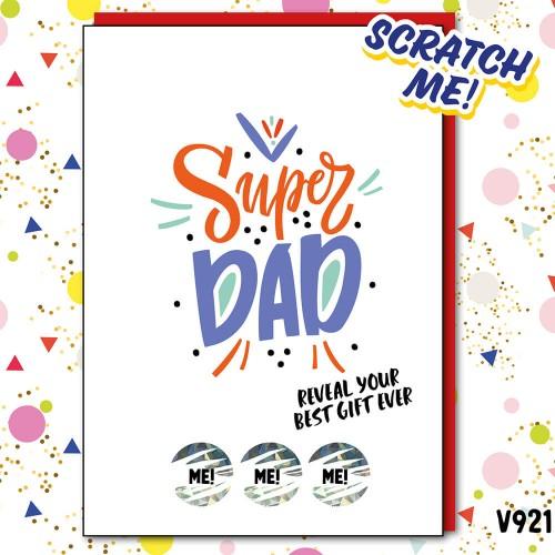 Super Dad Scratch Card