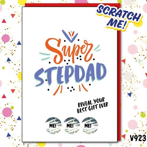 Super Stepdad Scratch Card