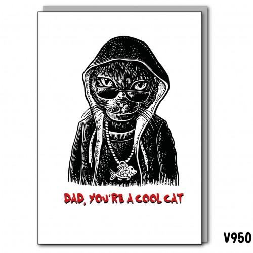 Dad Cool Cat