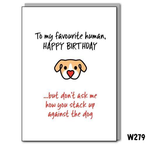 Birthday Fave Human Dog