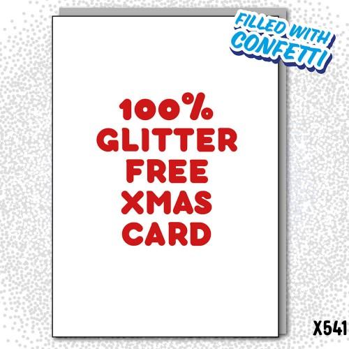 Glitter Free Cuntfetti Card