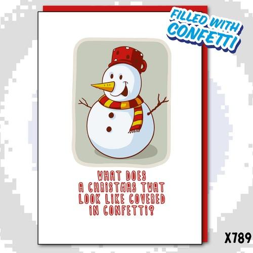 Christmas Snowman Twat Confetti