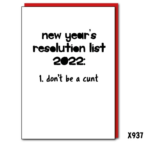 2022 Resolutions Cunt