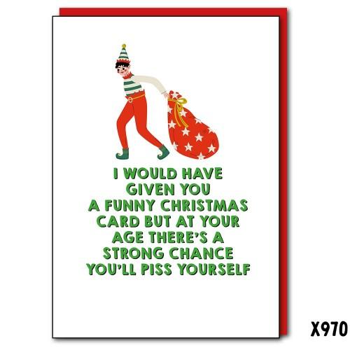 Funny Xmas Card Piss