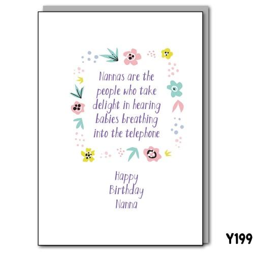 Nanna Telephone Birthday