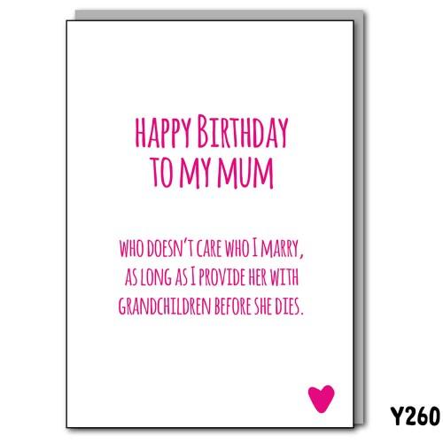 Birthday Mum Grandchildren