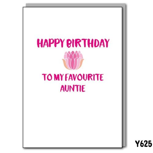 Favourite Auntie Birthday