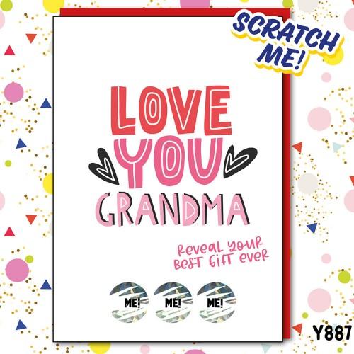 Grandma Best Gift Scratch Card