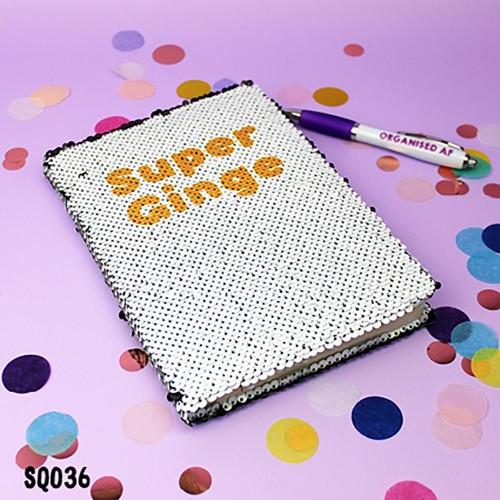 Super Ginge Sequin Notebook